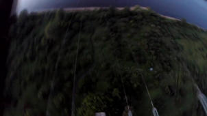 'Dangerous' low-altitude base jump between electricity wires