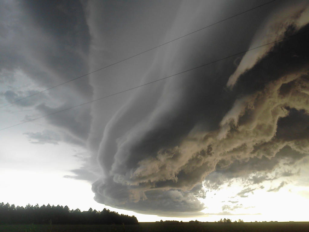Perfect Supercell with best light conditions anyone could.