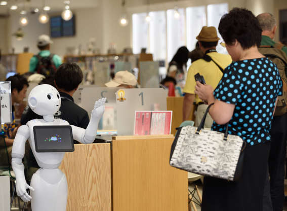 Slide 4 de 27: Existing androids can answer customer queries, memorize inventories and even guide customers during their visits to stores. Pepper, a Japanese android designed by SoftBank is already being used in around 1,000 stores in the country to help customers.