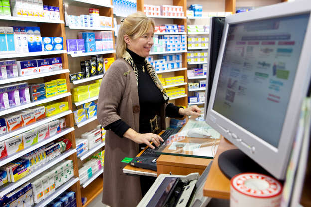 Slide 11 de 27: Pharmacies can now rely on a robotic prescription dispensing system, instead of a mere pill counting machine. They automatically load, store and deliver – all while maintaining the inventory.