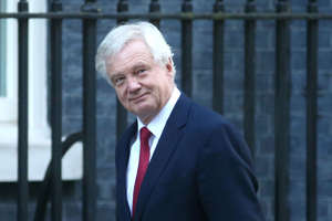 British Secretary of State for Exiting the European Union David Davis