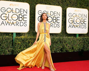 Wonderwall  middot  Actress Emily Ratajkowski arrives at the   th Annual Golden Globe Awards in Beverly Hills  California MSN com