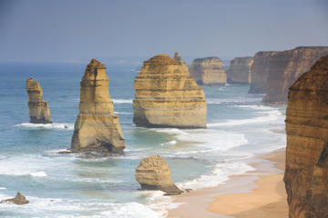 Rock formations known as the twelve apostles along the Great Ocean Road south from Melbourne, Australia