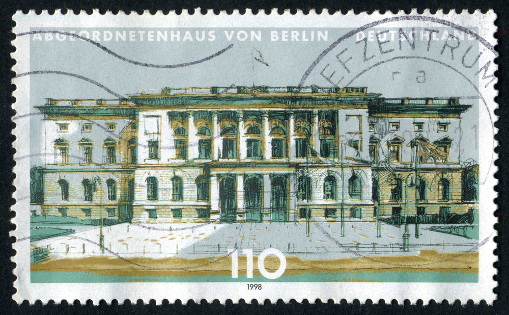 Slide 20 of 70: GERMAN REICH - CIRCA 1943: A stamp printed in Germany shows image of Adolf Hitler, circa, 1943